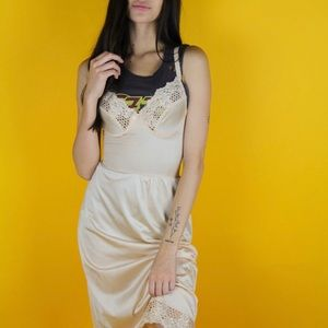 Other - Vintage champagne colored slip dress